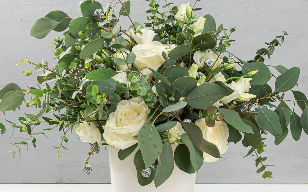 Eucalyptus Arrangement Simple Modern DIY Flower Arrangement