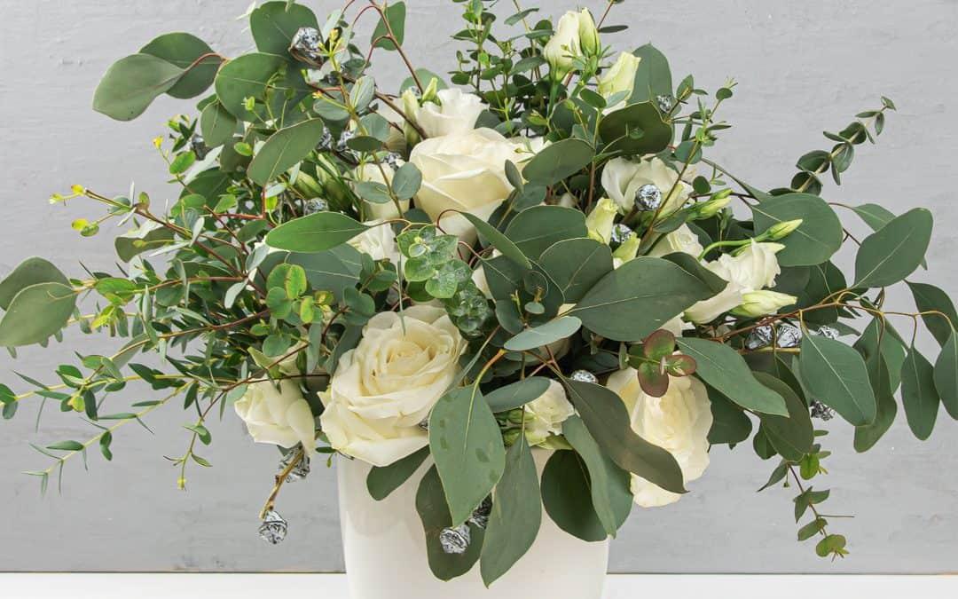 Eucalyptus Arrangement Simple Modern DIY Flower Arrangement