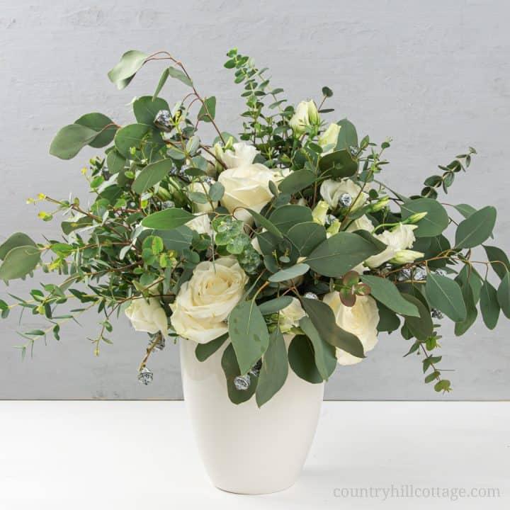 Eucalyptus Arrangement - Simple Modern Flower Arrangement