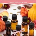 Learn how to make romantic 6 floral autumn diffuser blends! The DIY essential oil recipes make your house smell like fall the natural way. Some blends are uplifting & anti-stress, great to wake up in the morning, to energize and focus, others calming, perfect for relaxation in the evening, and for sleep at bedtime. The EOs include: lavender, vanilla, neroli, sandalwood, ylang ylang & cinnamon. #diffuserblends #essentialoils #fall #autumn #aromatherapy #diy #relaxing | countryhillcottage.com
