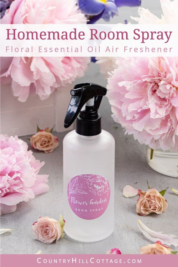 DIY flower air freshener with essential oils