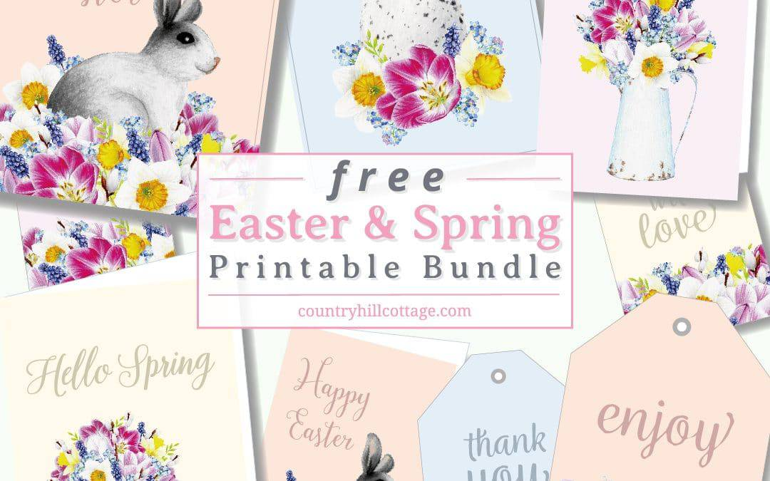 Free Easter Printables {Wall Art, Easter Tags & Easter Cards}