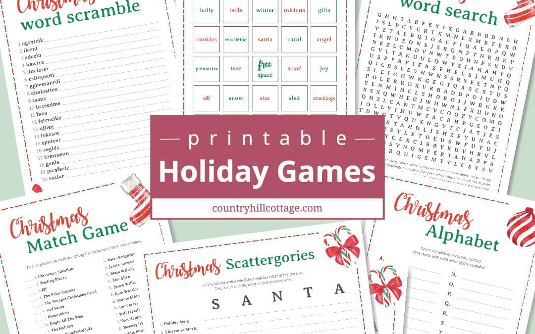Free Printable Christmas Games for Adults and Older Kids