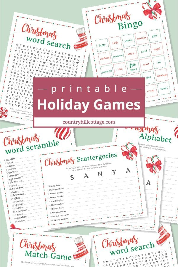 Free Printable Christmas Games for