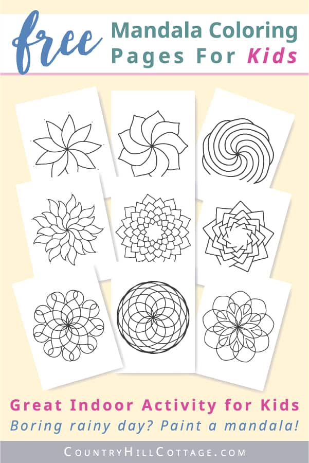 Mandala Coloring Pages For Kids {10 Free Printable Worksheets}