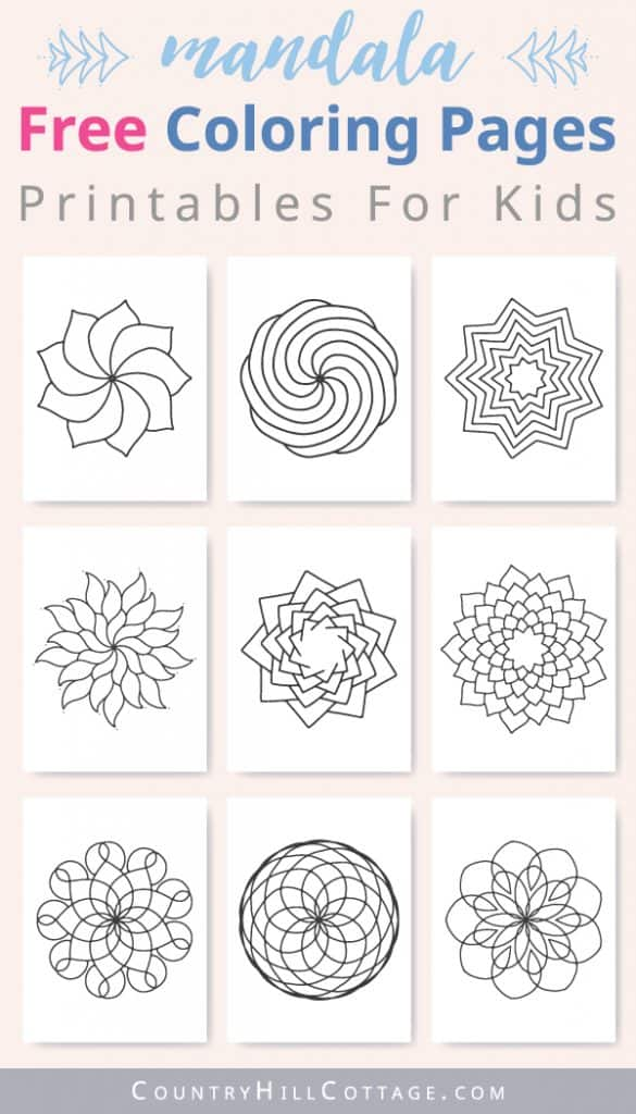 - Mandala Coloring Pages For Kids {10 Free Printable Worksheets}