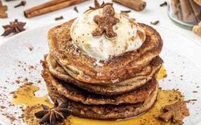 Gingerbread Pancakes – Healthy Christmas Pancake Recipe