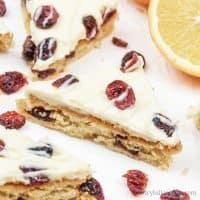 Gluten-free Cranberry Bliss Bars – Low Carb Keto Paleo Cranberry Bars