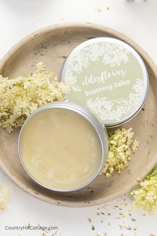 Healing Salve Recipe with Elderflower and Shea Butter