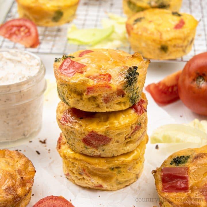 Easy Egg Muffins – Healthy Breakfast Muffin Recipe