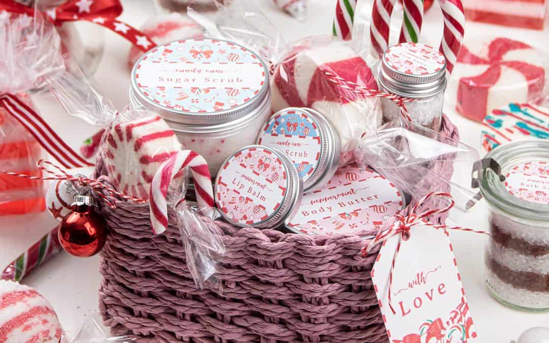Holiday Spa Gift Basket with Homemade Beauty Gifts