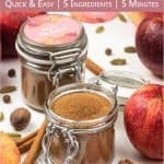 Learn how to make this easy homemade apple pie spice from scratch! The DIY spice mix can be made without cardamom and is very aromatic - perfect to season sweet and savoury apple recipes, like cookies, crescent rolls, dumpcakes, muffin or bread. Handmade seasoning is an excellent DIY food gift idea for holidays and Christmas. The recipe includes packaging ideas and free printable labels. #applepiespice #applepie #foodgift #printable #spiceblends #seasoningmix #diy   countryhillcottage.com