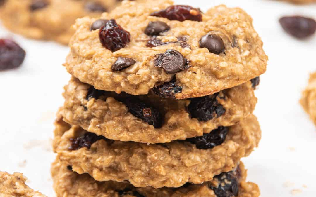 Banana Oatmeal Breakfast Cookies Healthy Gluten Free Recipe