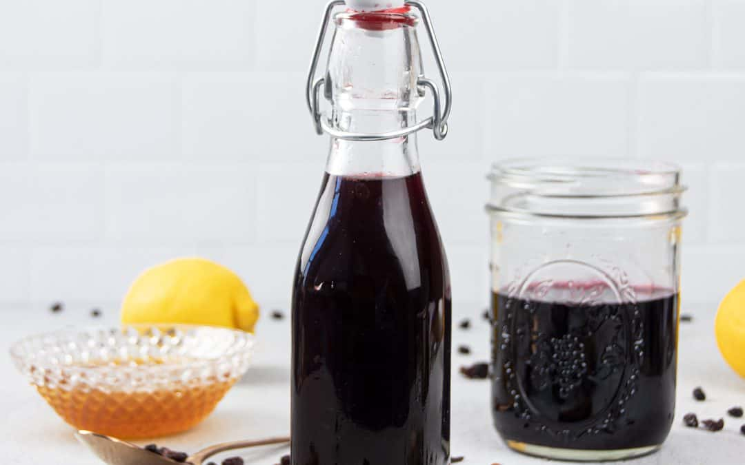 Homemade Elderberry Syrup Recipe for Colds {Great for Babies & Kids}