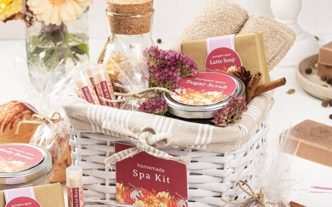 DIY Beauty Fall Gift Basket – Pretty Homemade Pamper Hamper Idea