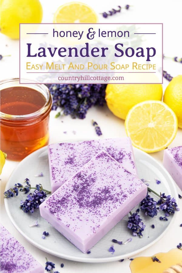 Natural lavender soap with essential oils