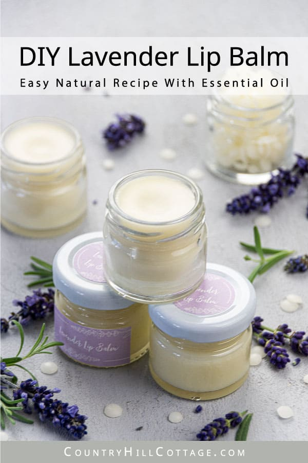 Natural Lip Balm with Lavender Oil