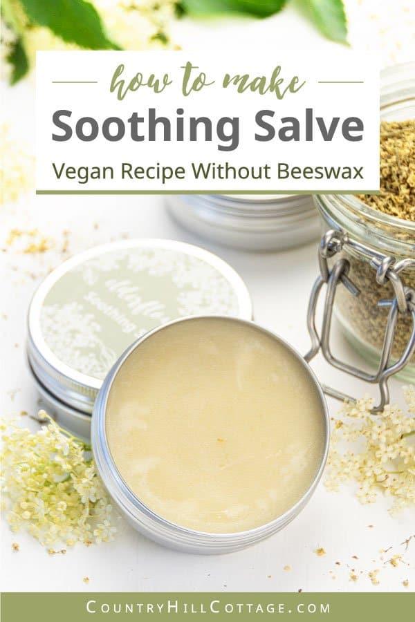 Vegan Salve Recipe with Shea Butter and Elderflower