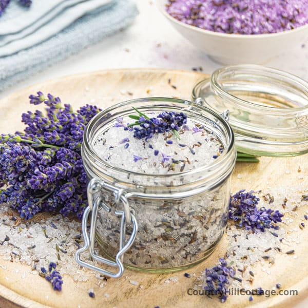 Homemade Lavender Bath Salts Recipe + Free Printable Labels