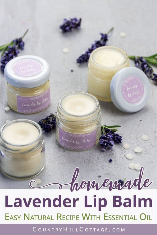 DIY Lavender Lip Balm
