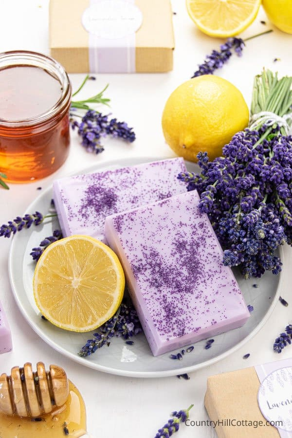 DIY honey lemon lavender soap