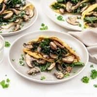 Mushroom Kale Frittata Crepes