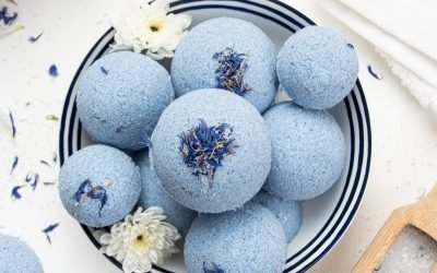 Relaxing Bath Bombs with Epsom Salt for Wellness and Skincare