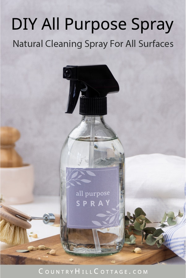 How to make a natural non toxic DIY all purpose cleaner spray! The best 3 ingredients homemade natural cleaning product is made with Sal Suds, optional materials are essential oils (lemon, lavender, Young Living Thieves, doTerra On Guard), alcohol, hydrogen peroxide and castile soap. Works on hard surfaces (wood, glass, stainless steel, wallpaper, kitchen cabinets, stain removal). Without vinegar, safe for marble and granite. #cleaner #cleaning #nontoxic #essential oils | countryhillcottage.com