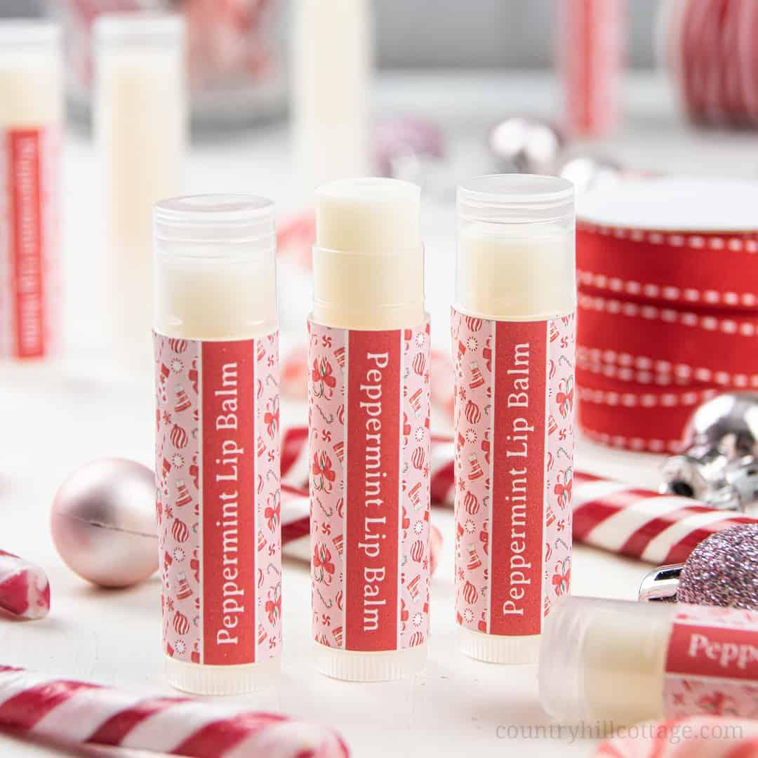DIY Peppermint Lip Balm Recipe with