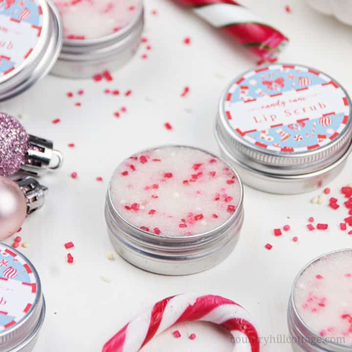 DIY Peppermint Lip Scrub Recipe with Free Printable Labels