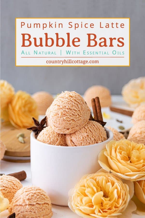 Pumpkin Spicy Latte Bubble Bars with Essential Oils