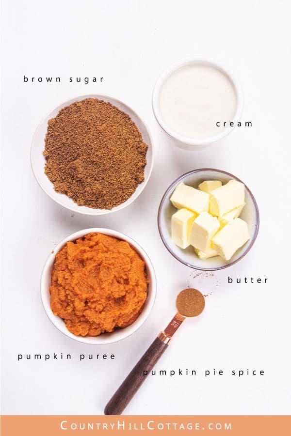 Pumpkin Pudding Ingredients - 5 Ingredients Recipe