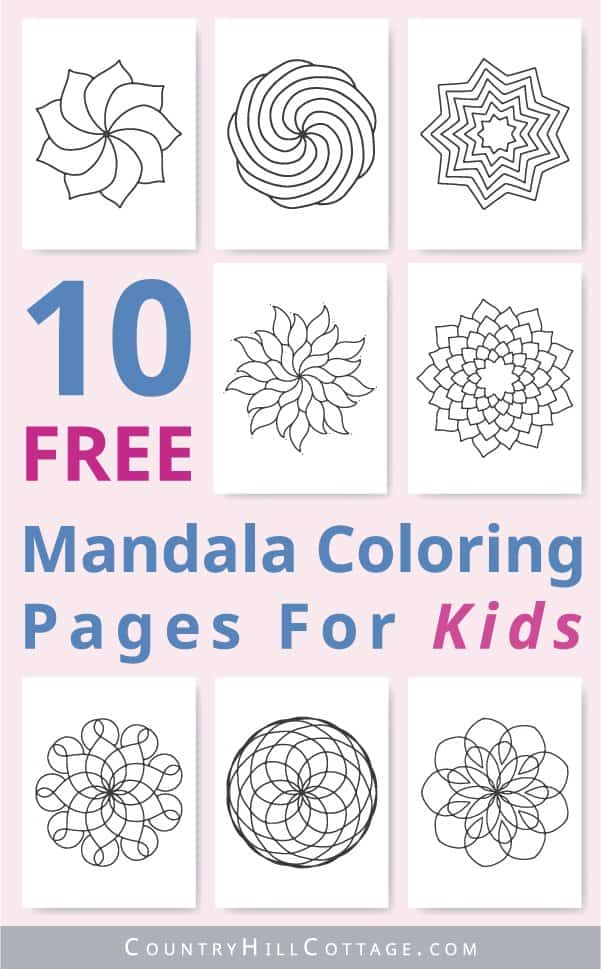 Color Your Stress Away With Mandala Coloring Pages | Skip To My Lou | 969x601