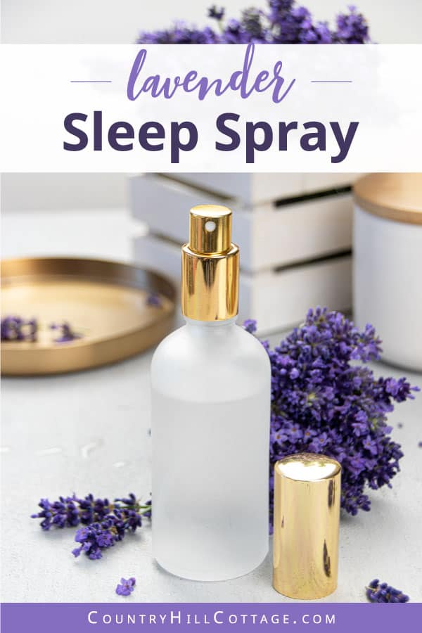 Natural sleep spray with essential oils