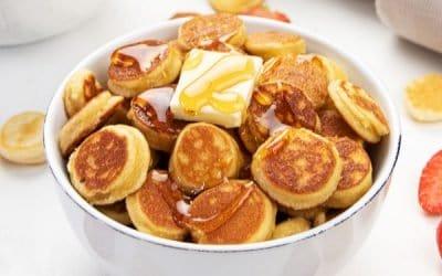 Mini Pancake Cereal {Gluten Free Vegan + Keto Low Carb Options}