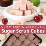 Pink DIY sugar scrub cubes