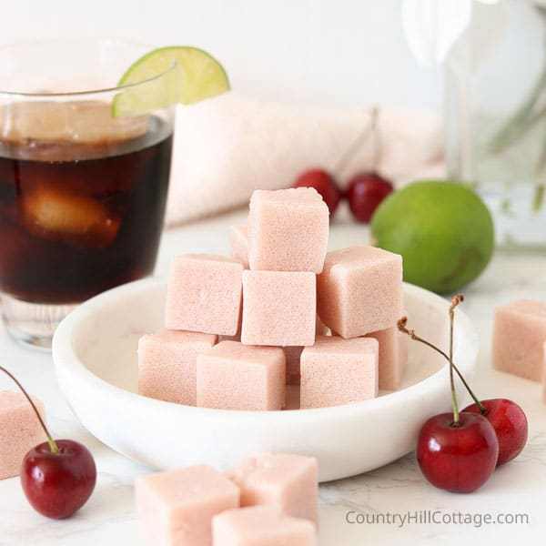 DIY Summer Sugar Scrub Cubes — Cherry Soda and Cherry Cola