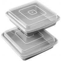 Non-Stick 9-Inch Square Baking Pan with Lid