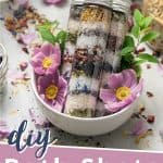 Natural Bath Shots with Bath Salts, Flowers and Essential Oils