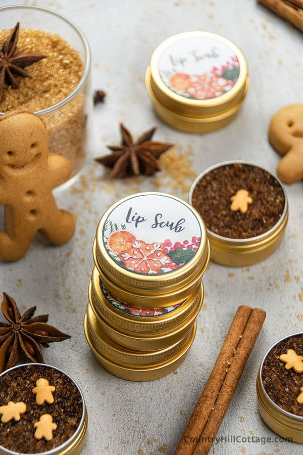 Brown Sugar Lip Scrub Recipe with Free Printable Labels