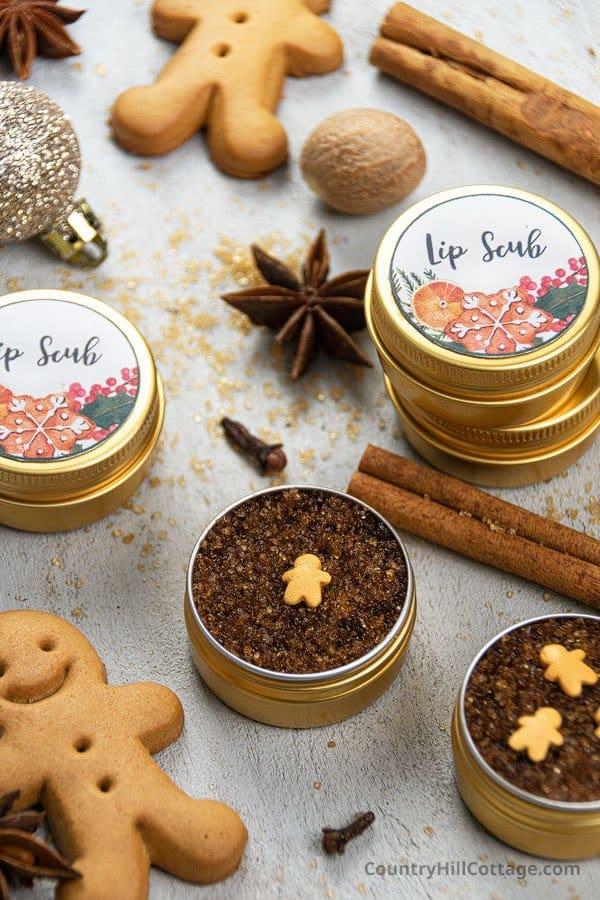 Christmas lip scrub recipe