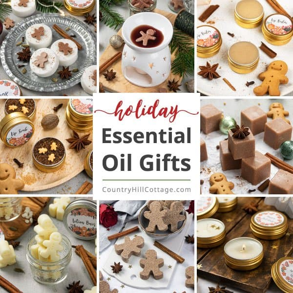 DIY Essential Oil Gifts for Christmas {+ Free Printable Labels + Gift Tags}