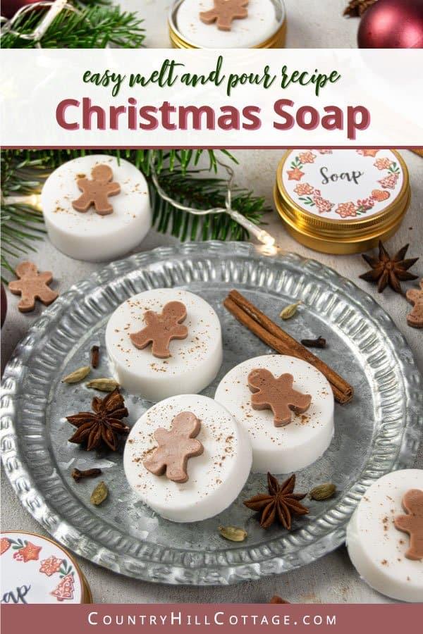 DIY gingerbread soap