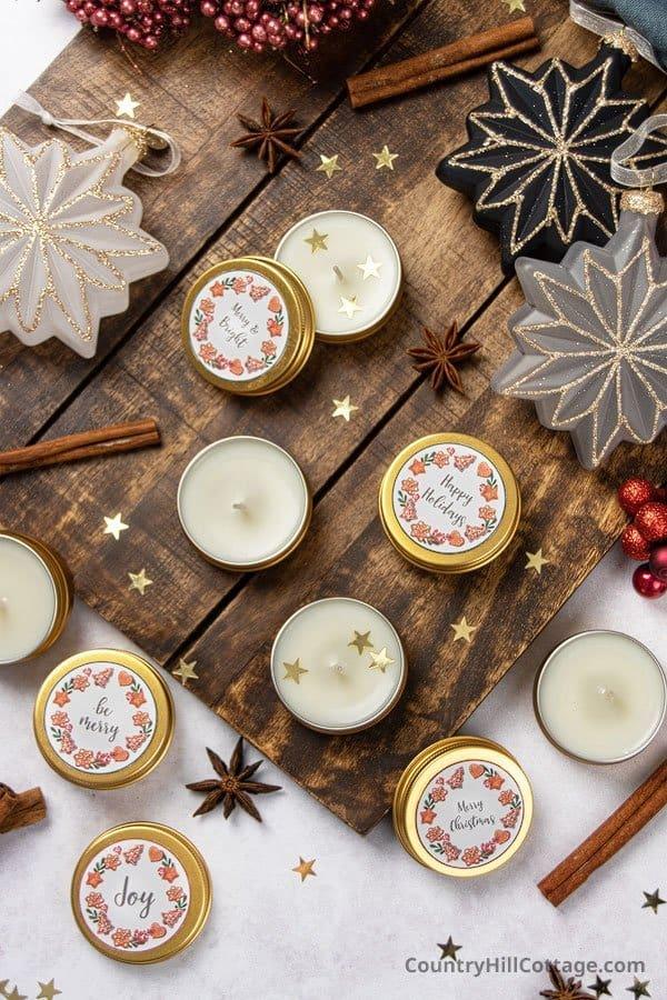 DIY Soy Wax Tea Lights with Essential Oils