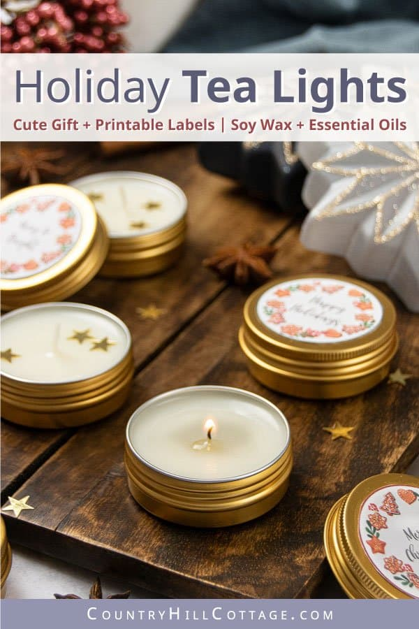 DIY essential oil tea lights