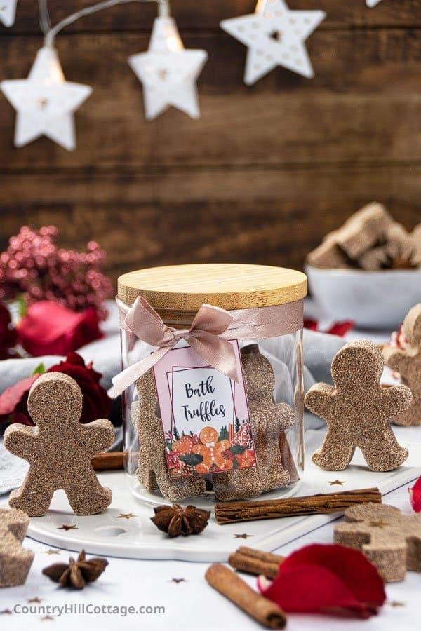 Holiday Bath Bombs Gift with Printable Gift Tags