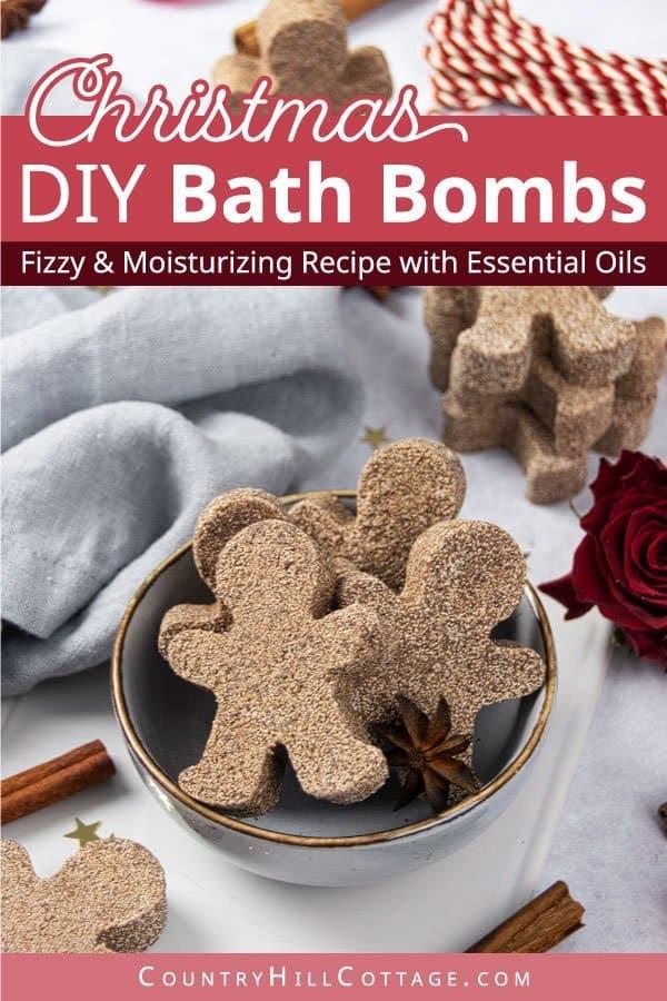 Homemade Christmas Bath Bombs Recipe