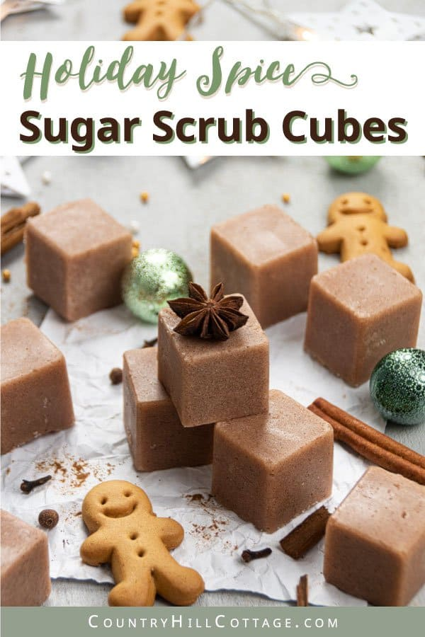 Natural exfoliating sugar scrub cubes