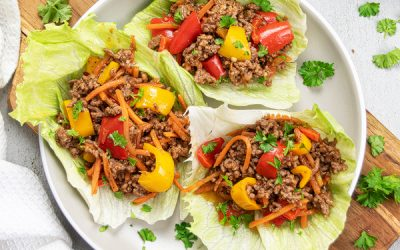 Easy Beef Lettuce Wraps Recipe {Low Carb + 30 Min}