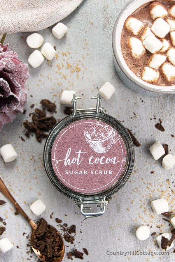 DIY hot chocolate sugar scrub